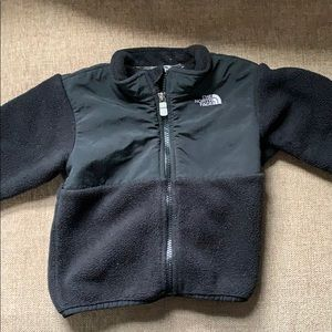 North Face Toddler Black Denali fleece coat